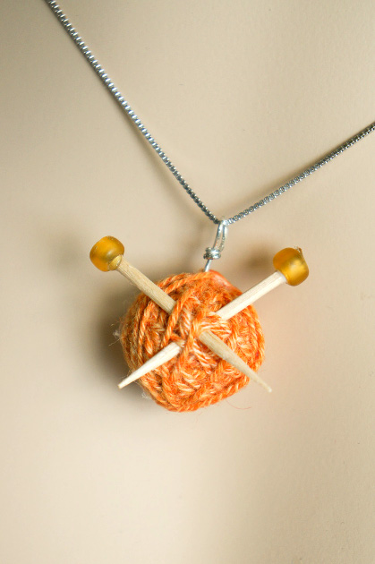 Make a Knitter's Necklace