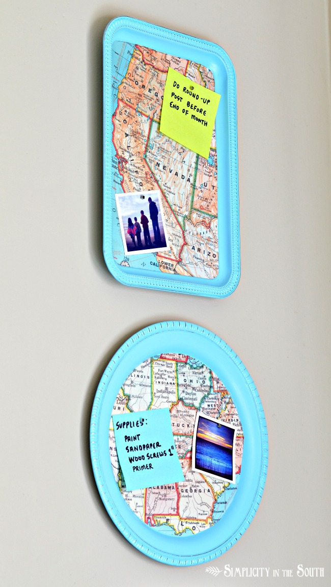 Make a Magnetic Map Bulletin Board