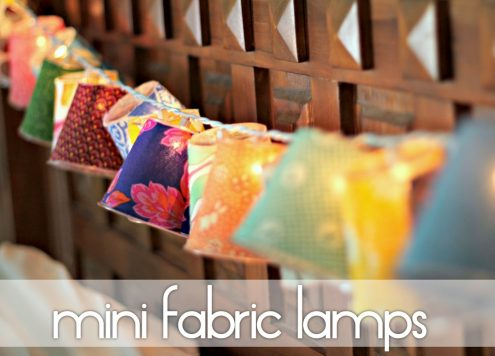 mini fabric lanterns