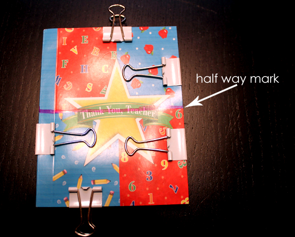how to cut a notebook in half
