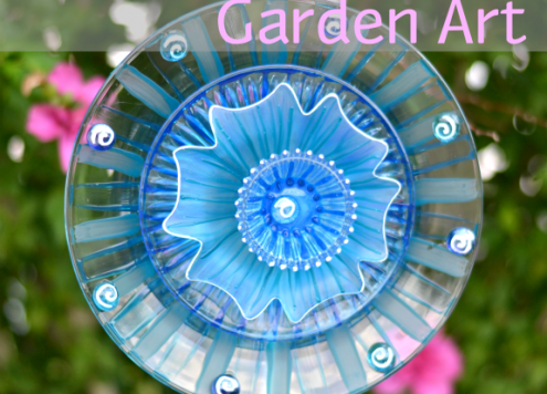 Make Glass Flower Garden Decorations
