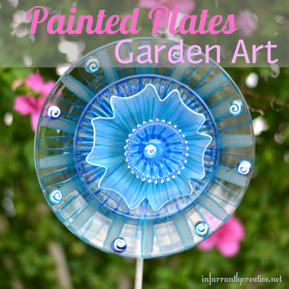 Make glass flower garden decorations dollar store crafts - Garden decor stores ...