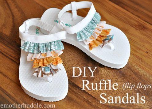 Make Ruffle Flip Flops