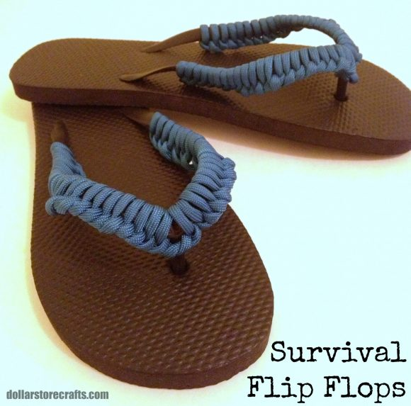0b468e51b6b9 Tutorial  Survival Flip Flops » Dollar Store Crafts