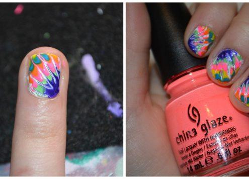 Tie Dye Nails Tutorial