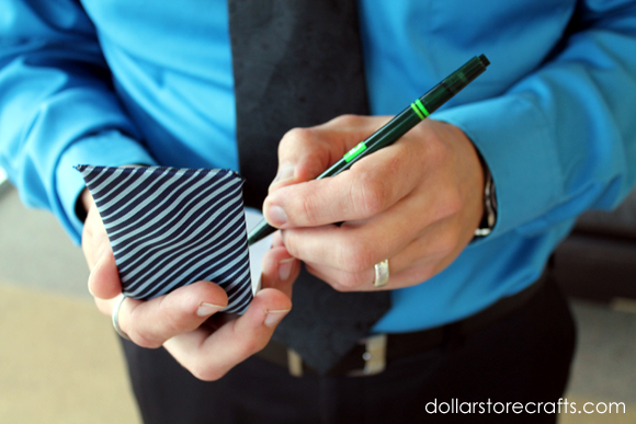 dressed up notepad
