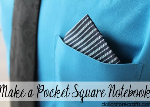 Make a pocket square notebook for dad for father's day