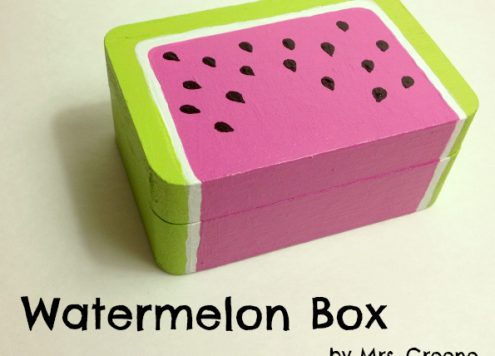 Paint a Wooden Watermelon Box