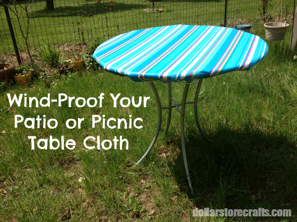 Windproofed Tablecloth