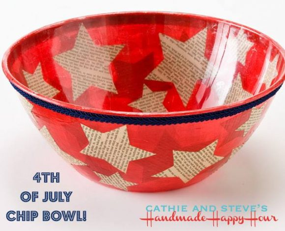 4th of July Chip Bowl by HandmadeHappyHour.com