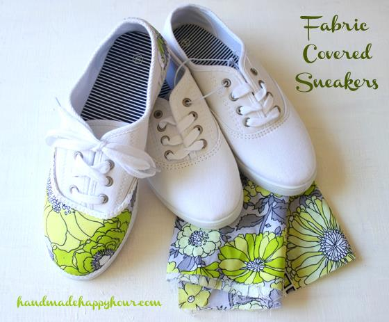 fabric-covered sneakers by Cathie Filian