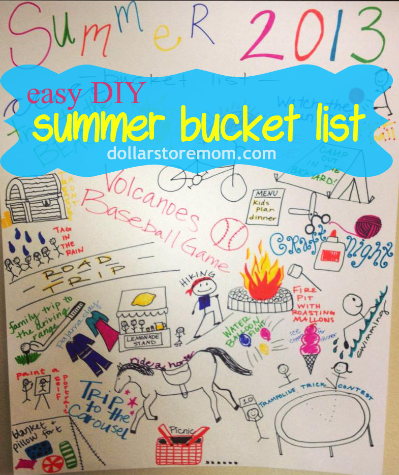 Make A Summer Bucket List Poster Dollar Store Crafts