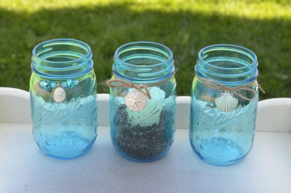 Mason jar candle holders - so easy! dollar store craft