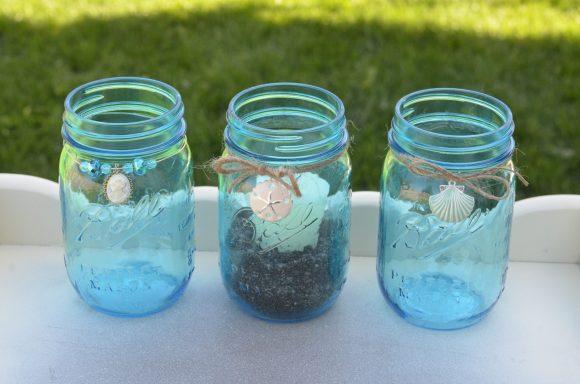 Tutorial dresssed up mason jar candle holders dollar for Mason jar candle crafts