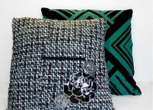 Embellisha Pillow with Dollar Store Hair Accessories