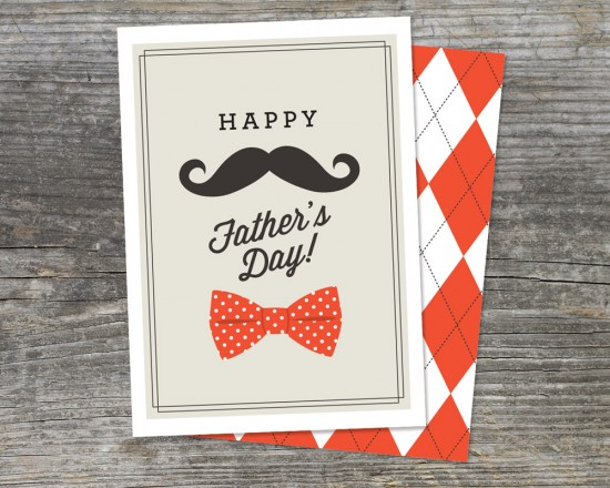 mustache father's day card free printable