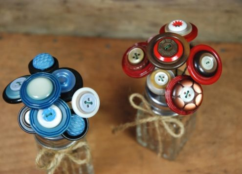Salt Shaker Button Bouquets