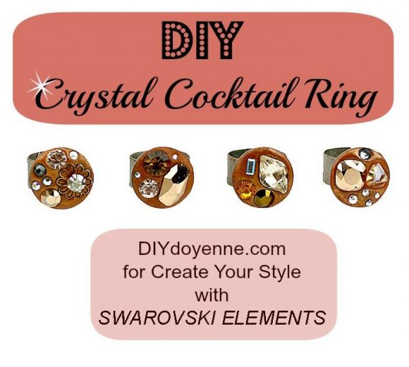 DIY crystal cocktail ring by DIYDoyenne.com