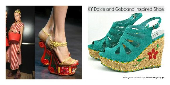DIY Dolce & Gabbana-inspired Folk art wedges - by Margot Potter