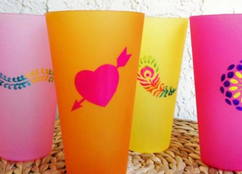 Make Enameled Plastic Tumblers