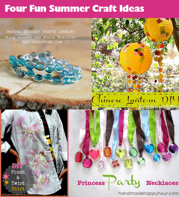 Four Fab Summer Craft Ideas Dollar Store Crafts