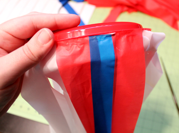 red white and blue strips