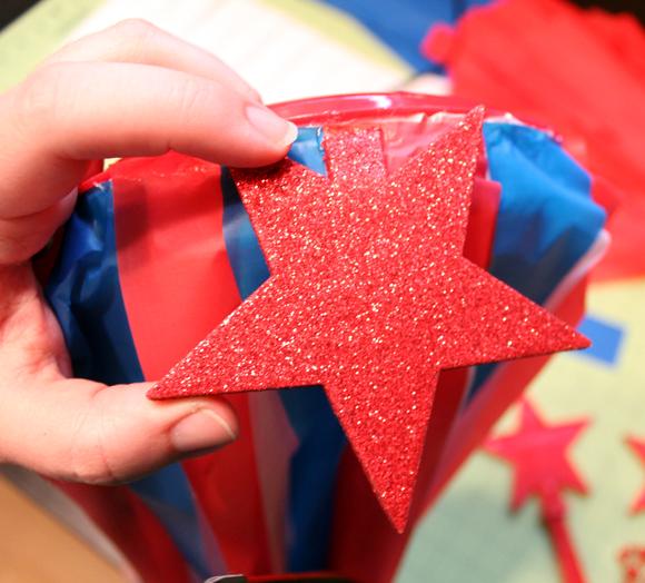 sparkle stars on a windsock