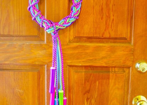 Make a Jump Rope Wreath