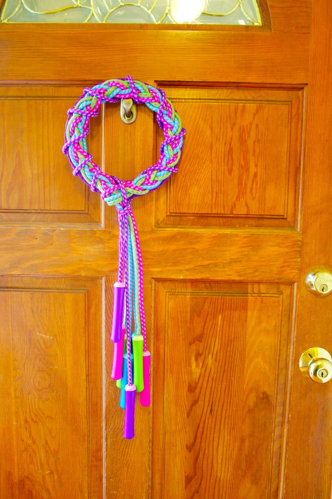 Make A Jump Rope Wreath 187 Dollar Store Crafts