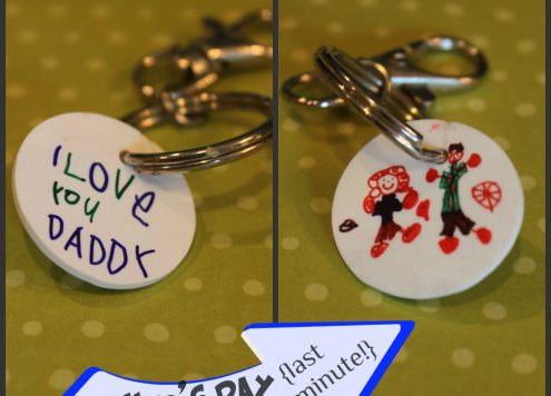 Father's Day Gift: Kid Art Keychain