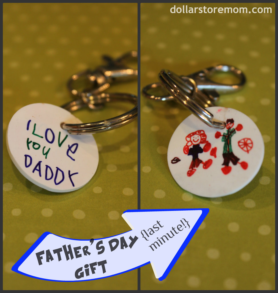 Father S Day Craft Kid Art Keychain Dollar Store Crafts
