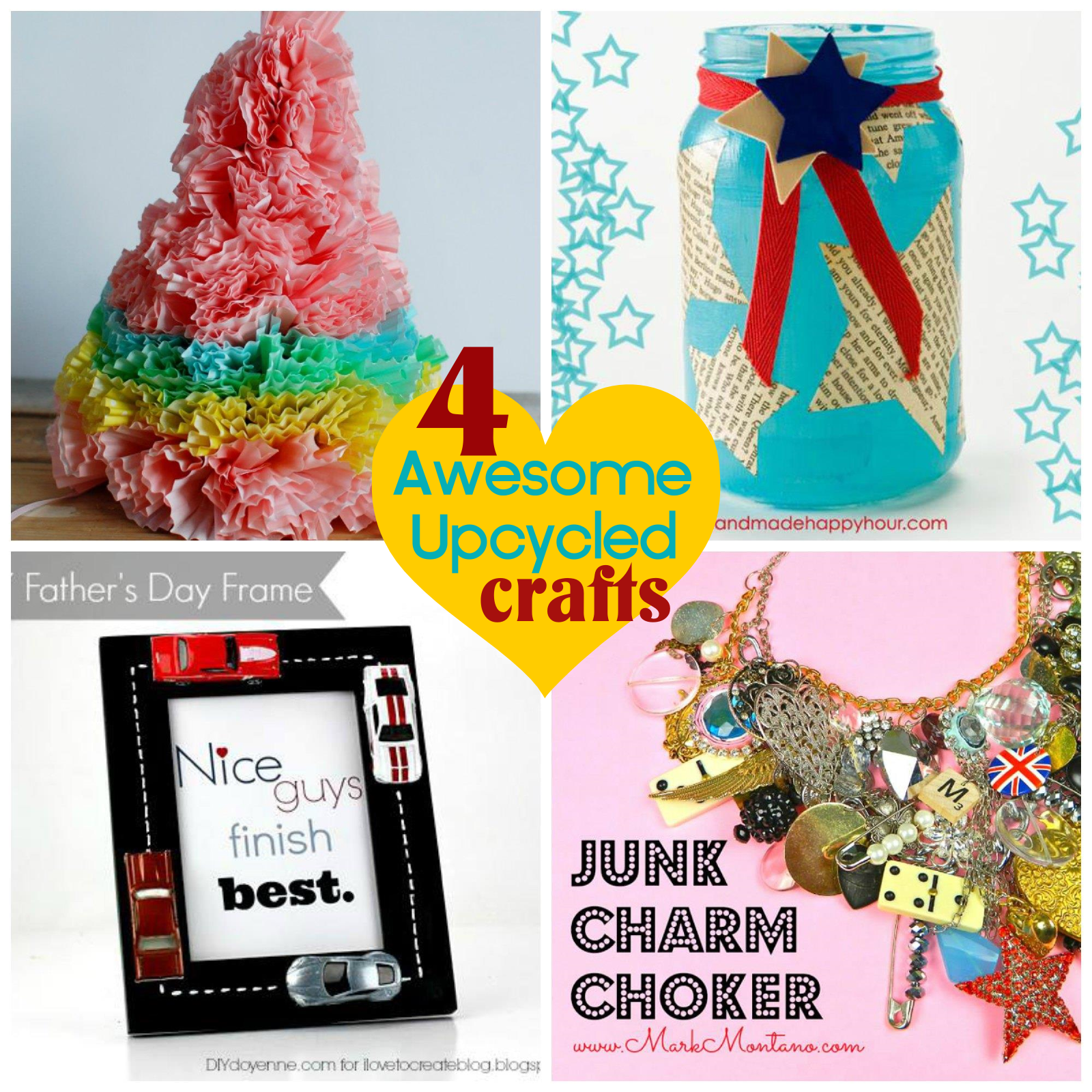 Four Awesome Upcycled Crafts » Dollar Store Crafts Upcycled Crafts