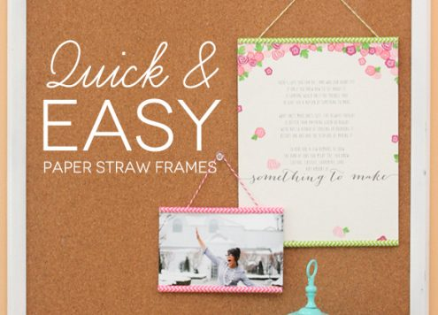 Make Paper Straw Frames