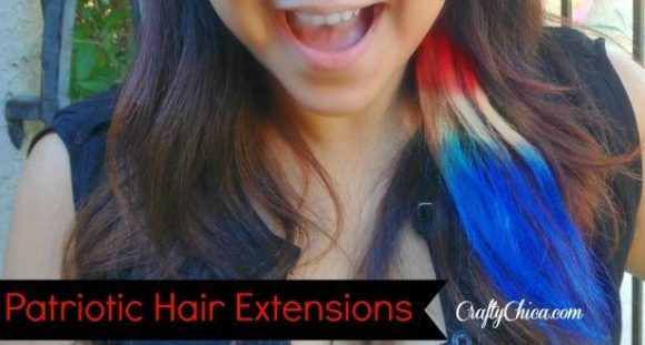 Patriotic Hair Extensions by craftychica.com