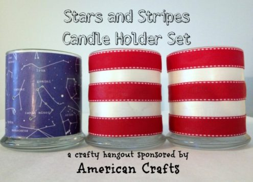 Patriotic Candle Holders - constellations and stripes