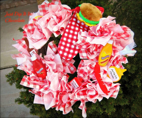 Paper Napkin Picnic Wreath