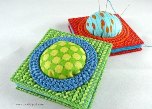 Needle Book with Pin Cushion