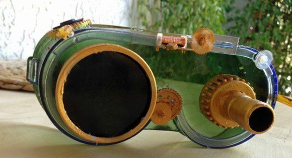 DIY Steampunk Tinker's Goggles from dollar store stuff #DisneyOzMovie