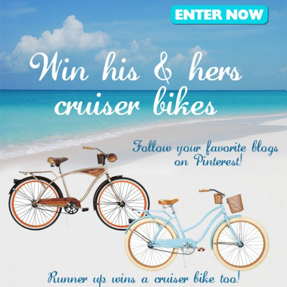 Win His & Hers Cruiser Bikes - Enter now, winner picked June 17th