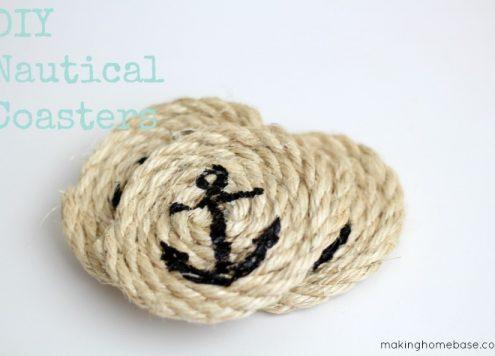 sisal rope nautical coasters