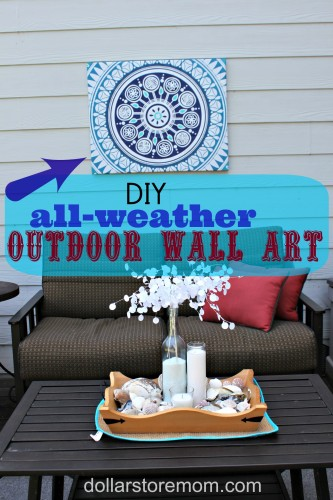 Make Outdoor Wall Art From A Shower Curtain Dollar Store Crafts