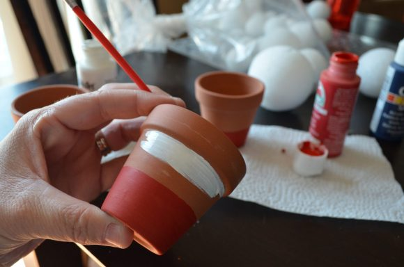 Patriotic Mini Flower Pots
