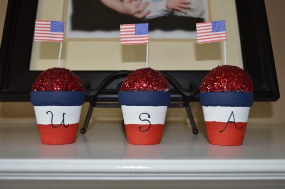 Patriotic Mini Flower Pots