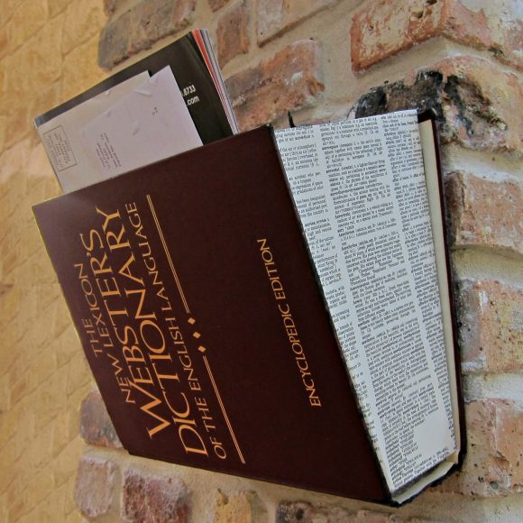 Mail Holder Recycled Book