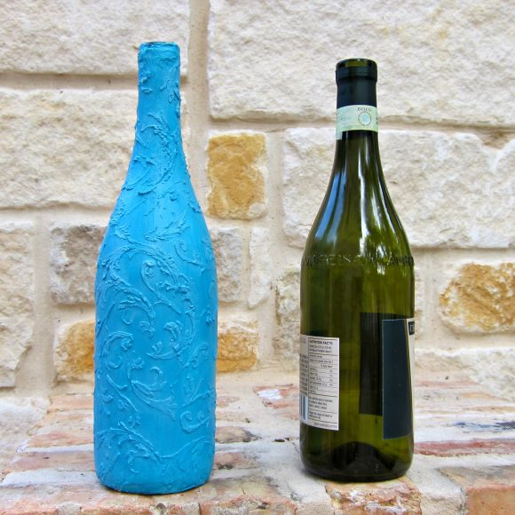 Wine Bottle to Faux Ceramic