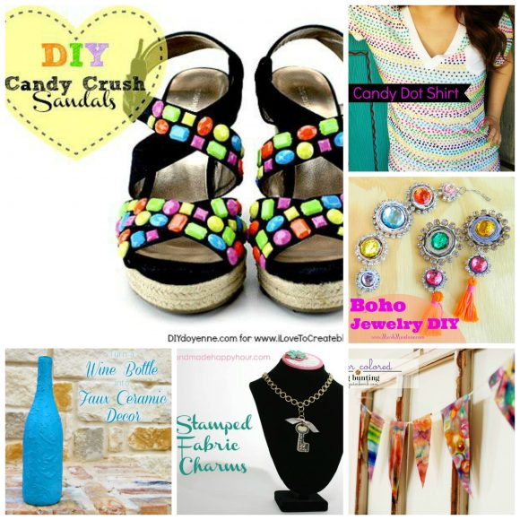 Crafty Candy - 6 cool crafts to make this week! from dollarstorecrafts.com