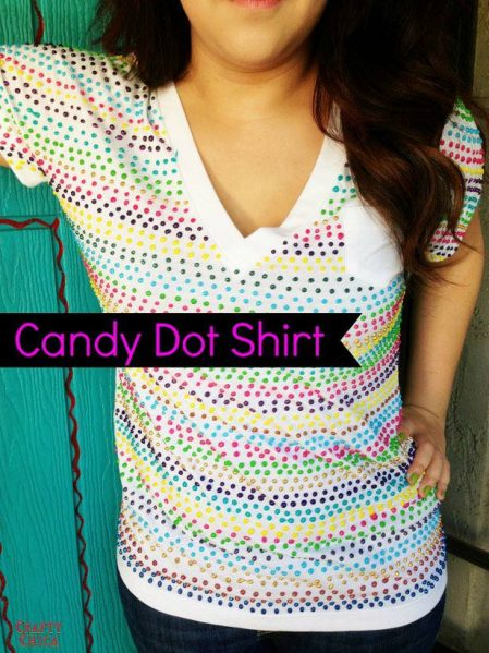 Candy Dot T-shirt by CraftyChica.com