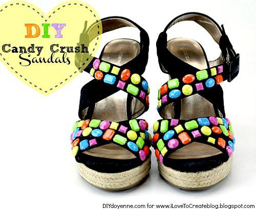 Candy Crush shoes by DIY Doyenne