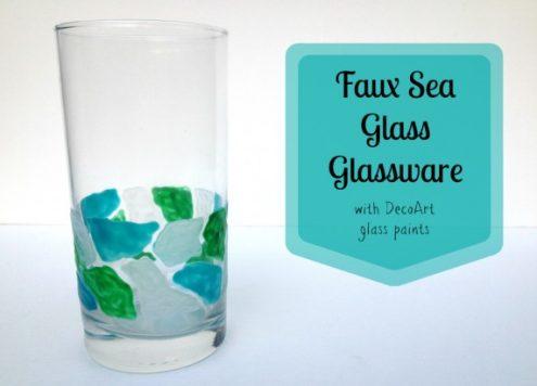 Paint Faux Beach Glass Mosaic Drinkware