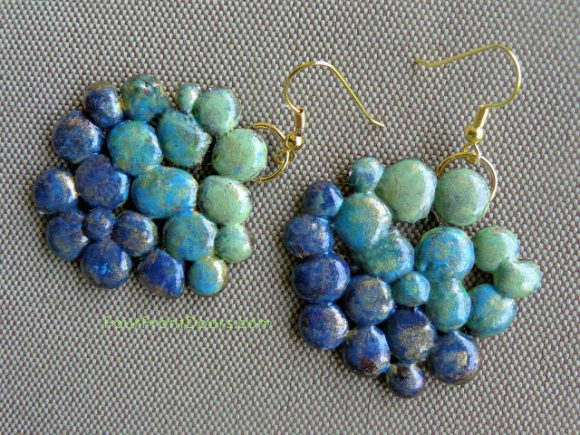 Make Hot Glue Drop Earrings